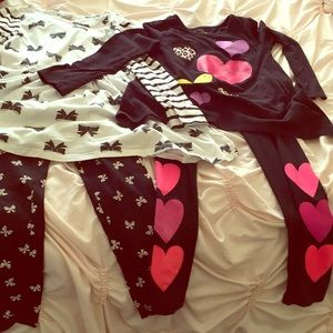 Girls pants sets size 7/8
